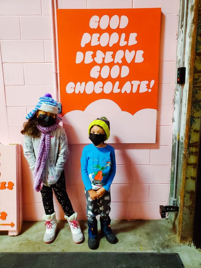 Two children at Bon Bon Bon Detroit in Midtown
