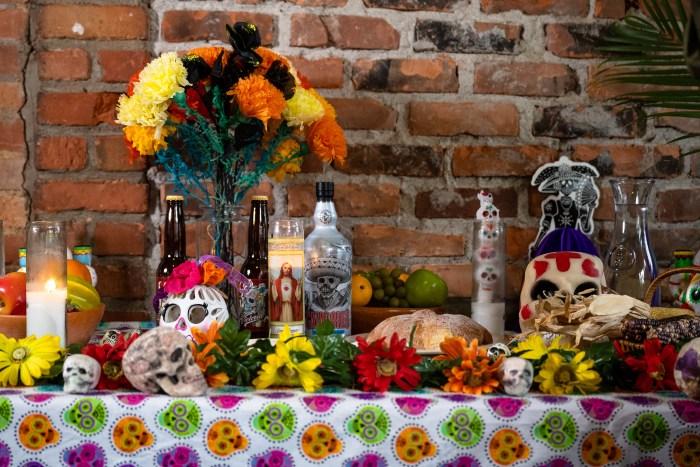 Día de Los Muertos Ofrendas at a Southwest Detroit business