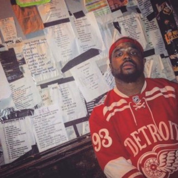 Detroit Hip-Hop Artist P8tience Drops New Album KuhlerBlahynd. (Image of P8tience wearing a red Detroit Red Wings hockey jersey.)