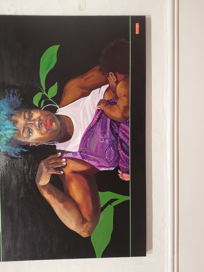 """Sydney G. James artwork """"Nutrition for the Soul"""" featured at the """"Souls of Black Folk"""" art exhibit in Detroit."""