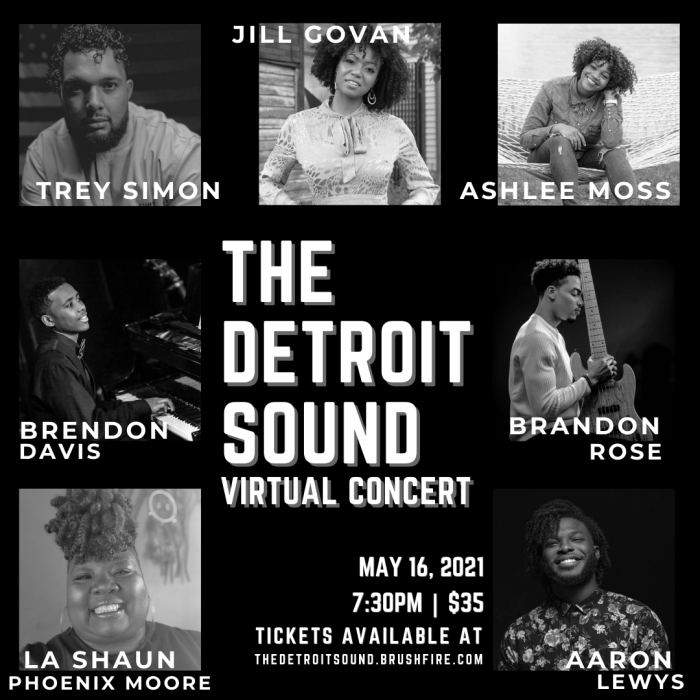The Detroit Sound Virtual Concert event infographic. This concert is presented by Jalen Seawright
