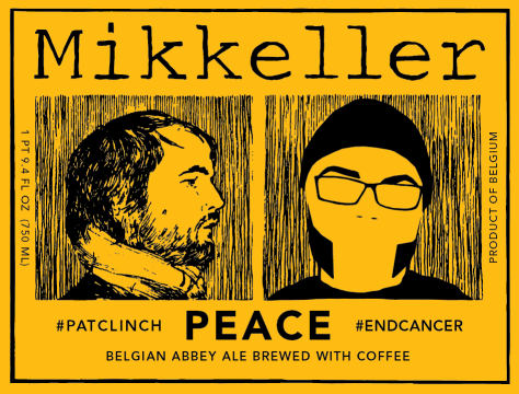 Mikkeller Peace. Abbey Ale with Coffee and Friendship added.