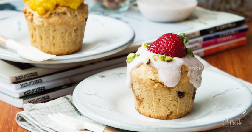 Soy Milk Cupcake with Strawberry Tofu Cream