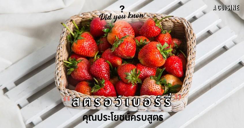 สตรอว์เบอร์รี่ สตรอว์เบอร์รี่ประโยชน์ Strawberry