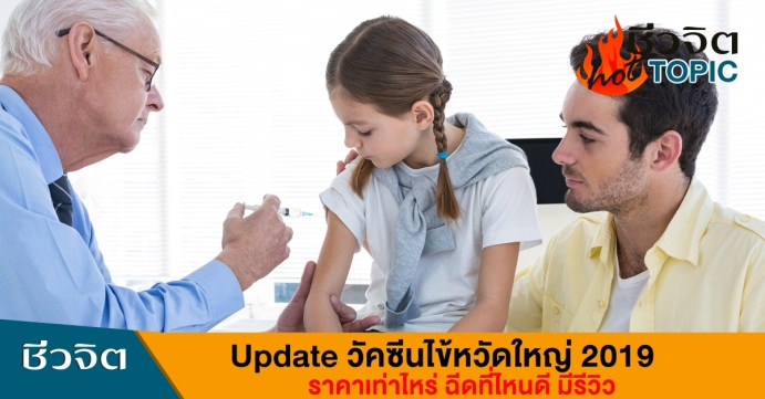 วัคซีนไข้หวัดใหญ่ ราคา 2019