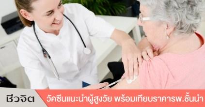 วัคซีนสำหรับผู้สูงอายุ วัคซีน