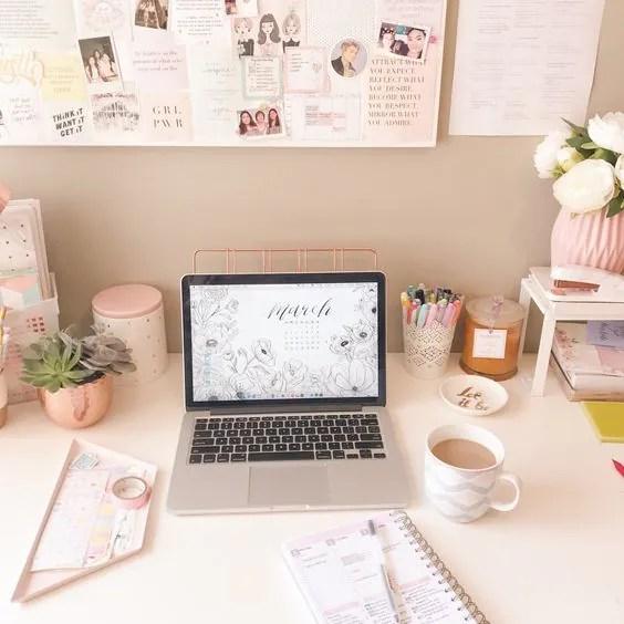ไอเดียแต่งโต๊ะทำงาน การจัดโต๊ะทำงาน ทำงานให้มีความสุข