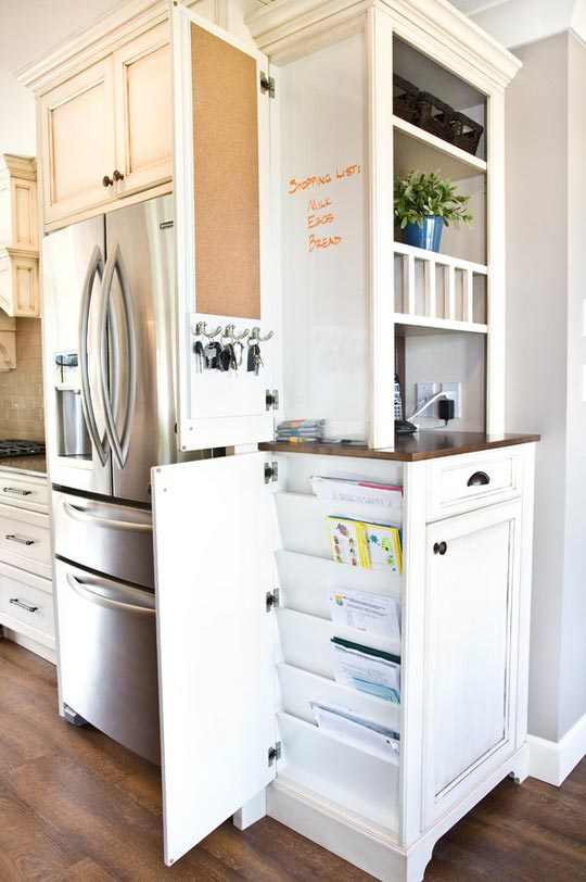 Highlight clever storage!
