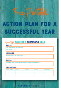 The Good Life Plan for a Successful Year helps motivate you to create the most amazing year! We'll talk about focus, action and tools for success.