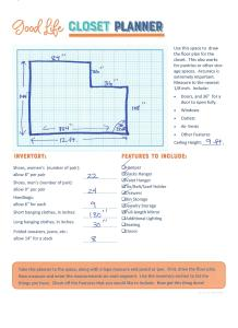 Free printable closet planner!