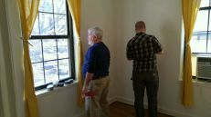 Jim and Sean patching the walls.