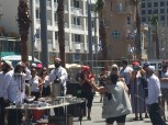 I was walking along the beach on Independce day and I found this site of people dancing and celebrating