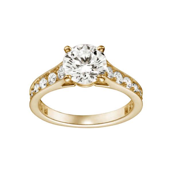 Gold Platinum Engagement Ring