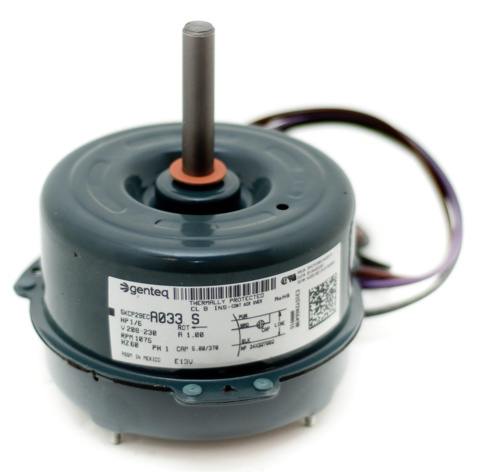 hight resolution of condenser fan motor b13400252s goodman janitrol 1 6 hp 1 speed