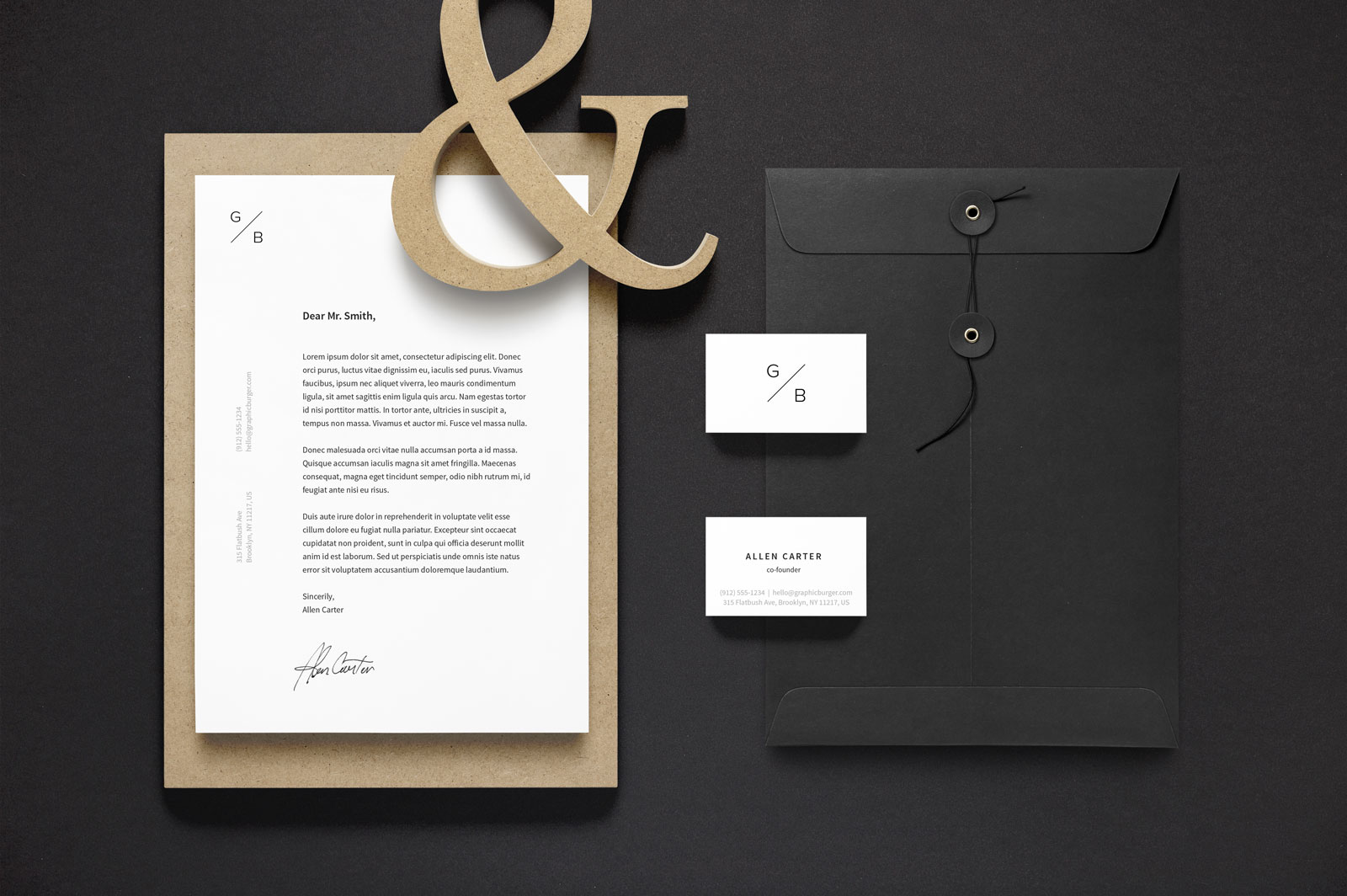 It's good for networking, outreach and more. Free A4 Letterhead Business Card Stationery Mockup Psd Good Mockups