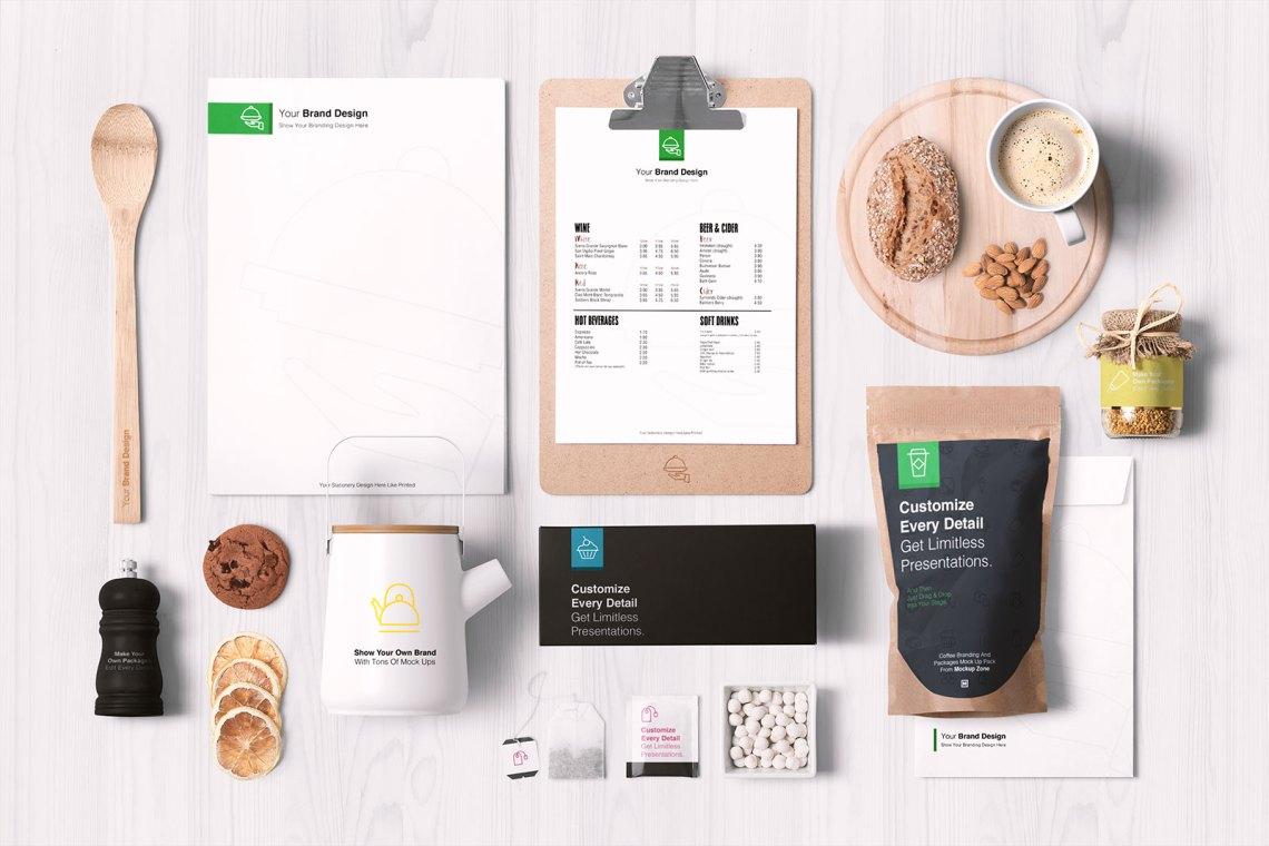 Download Free Premium Food Packaging & Branding Mockup PSD - Good ...