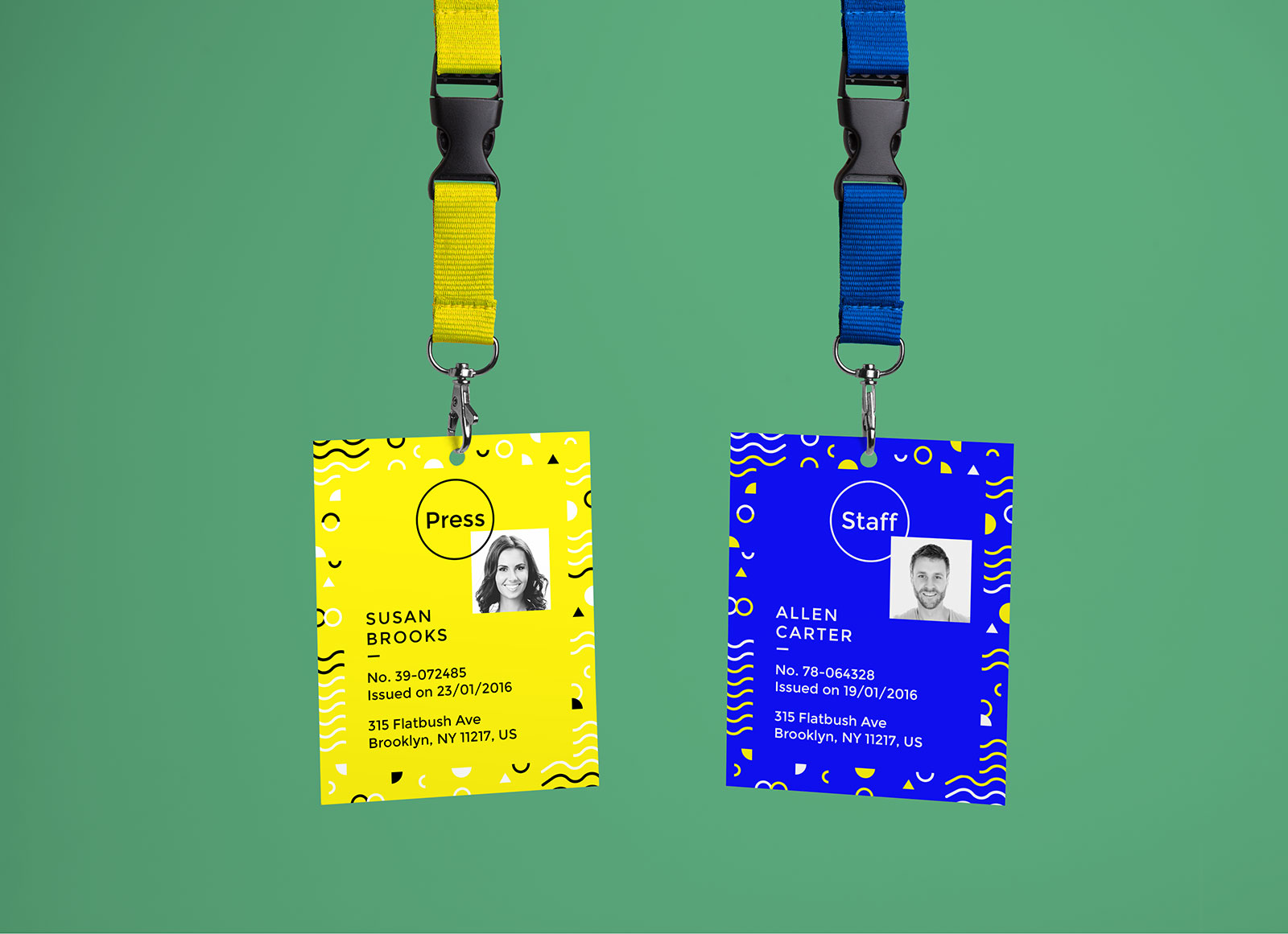 Free Company ID Card Mockup PSD Good Mockups