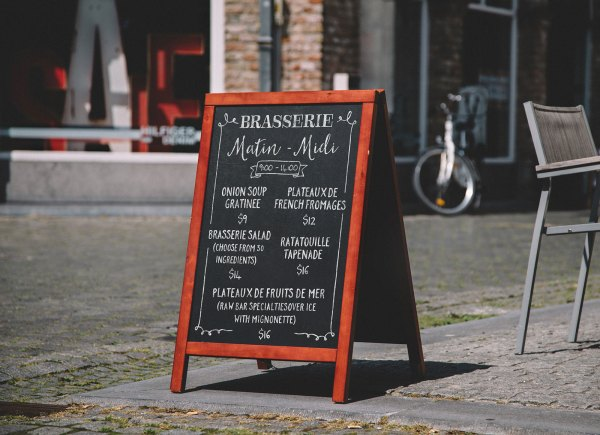 Free -frame Chalkboard Restaurant Menu Mockup Psd - Good