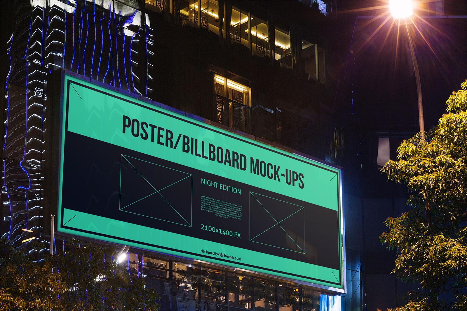 10 Free Outdoor Advertising Billboard  Bus Stop PSD