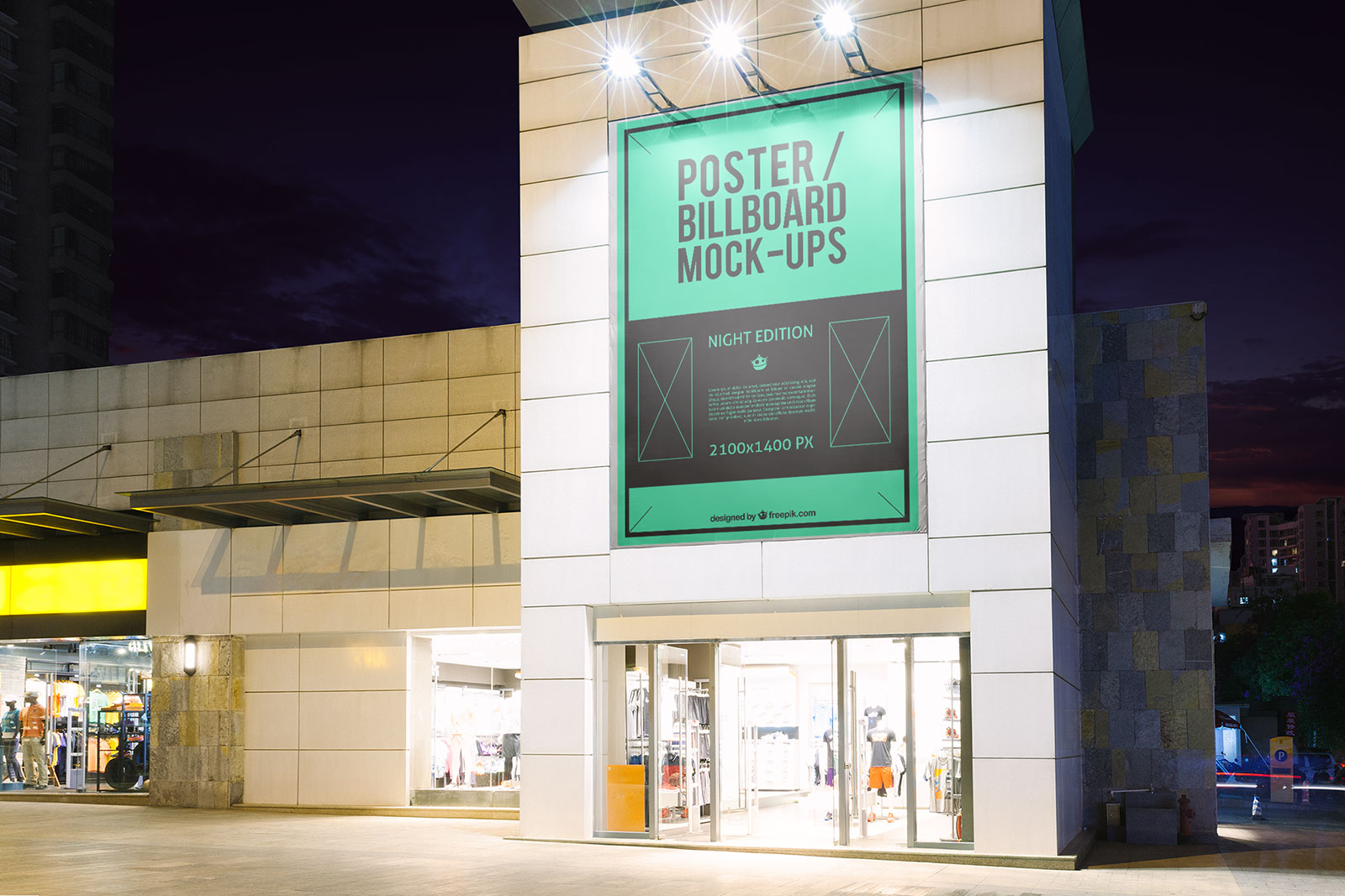 10 Free Outdoor Advertising Billboard  Bus Stop PSD