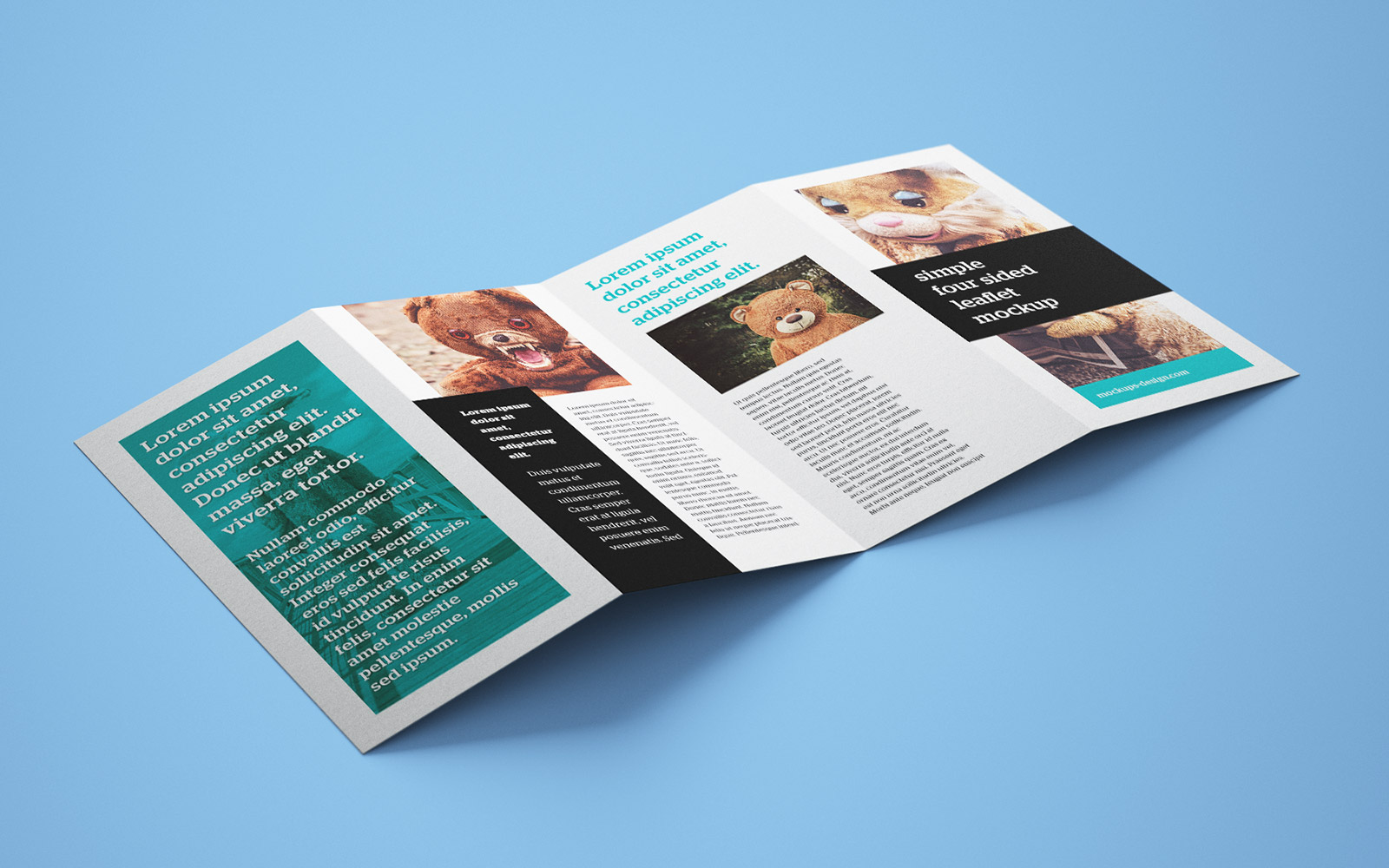accordion fold brochure templates
