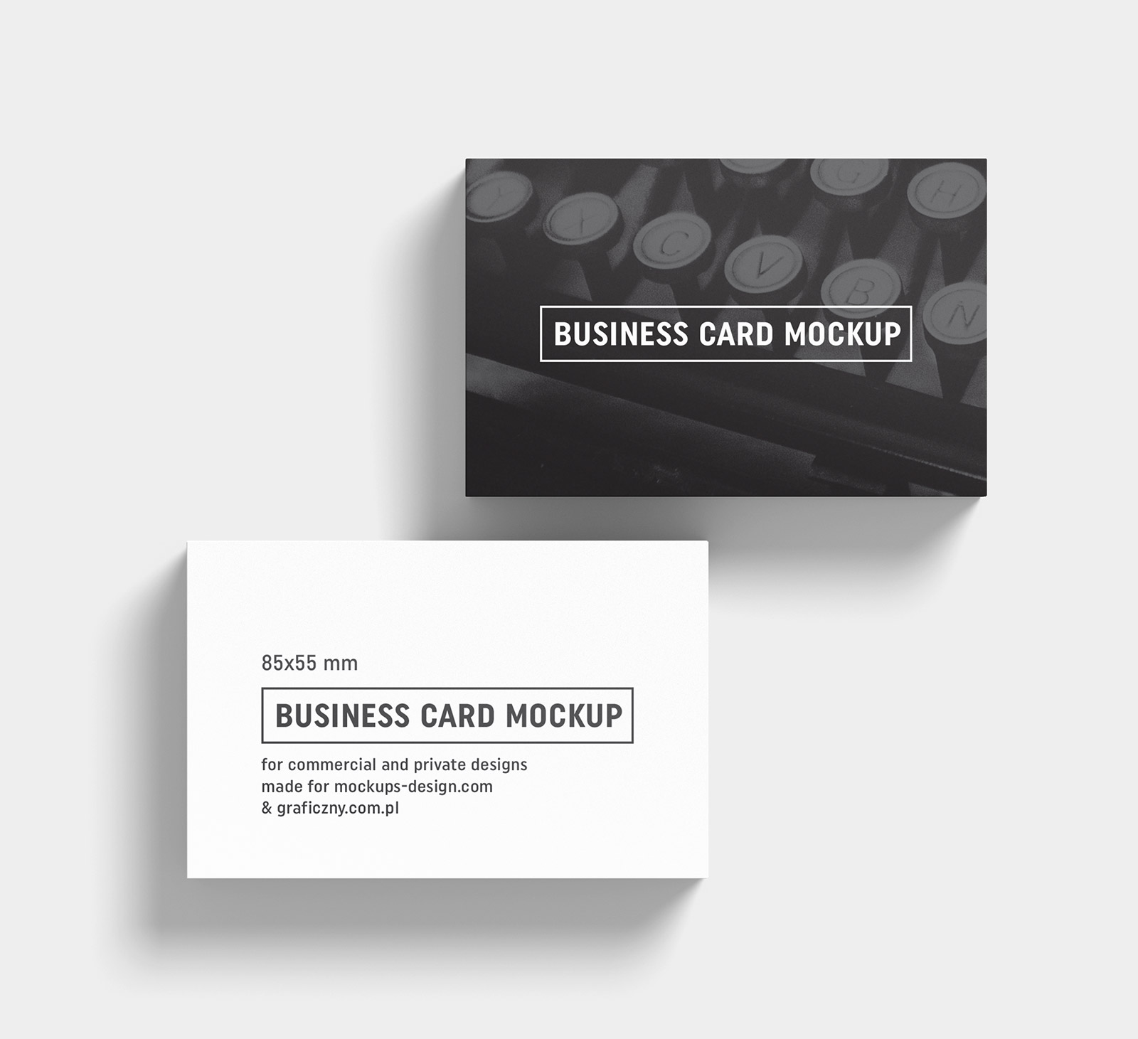 Free Black White Business Card Mockup PSD Templates Good Mockups