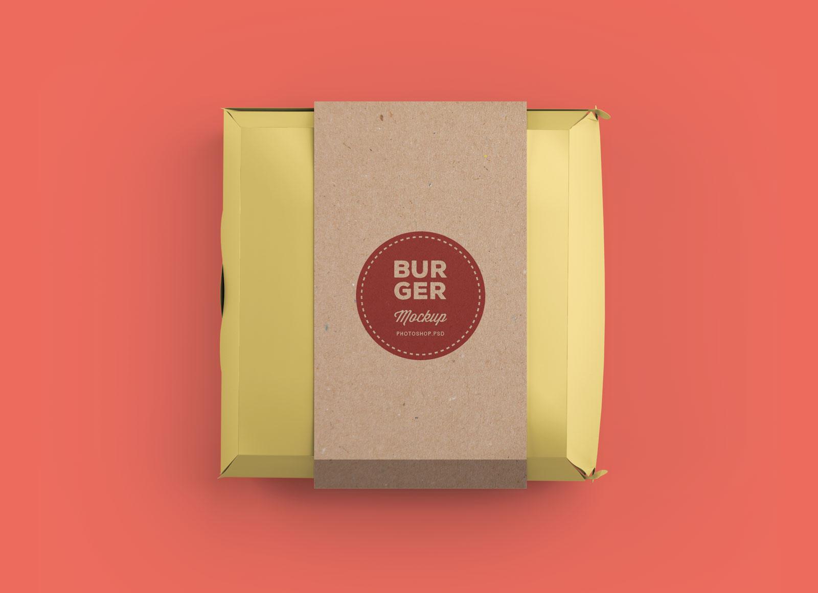 amazing free burger box packaging box mockup psd good mockups