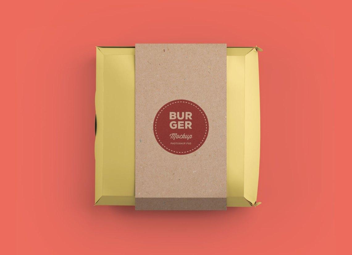 Download Free Burger Box Packaging Box Mockup PSD - Good Mockups