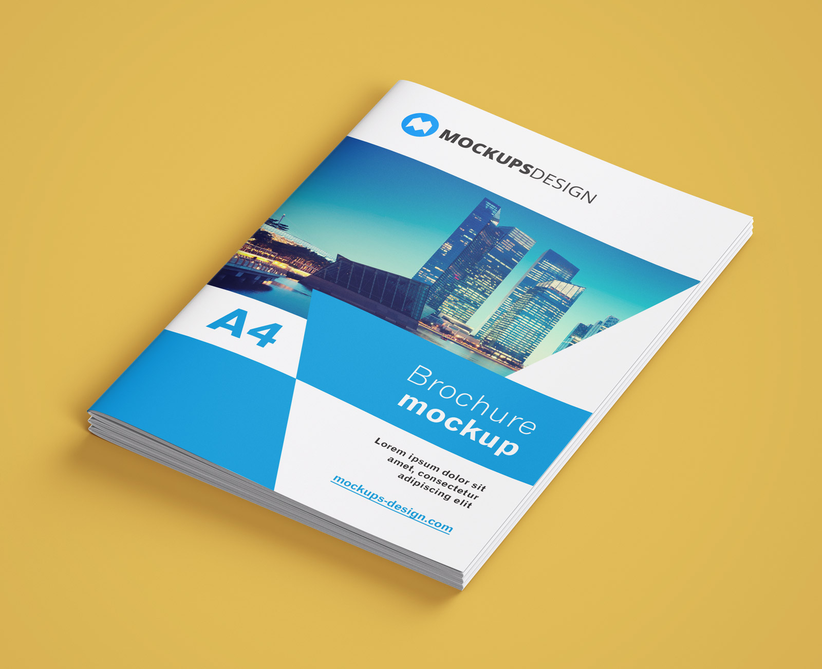 Free A4 Multi-Page Brochure / Company Profile Mockup PSD Set - Good ...