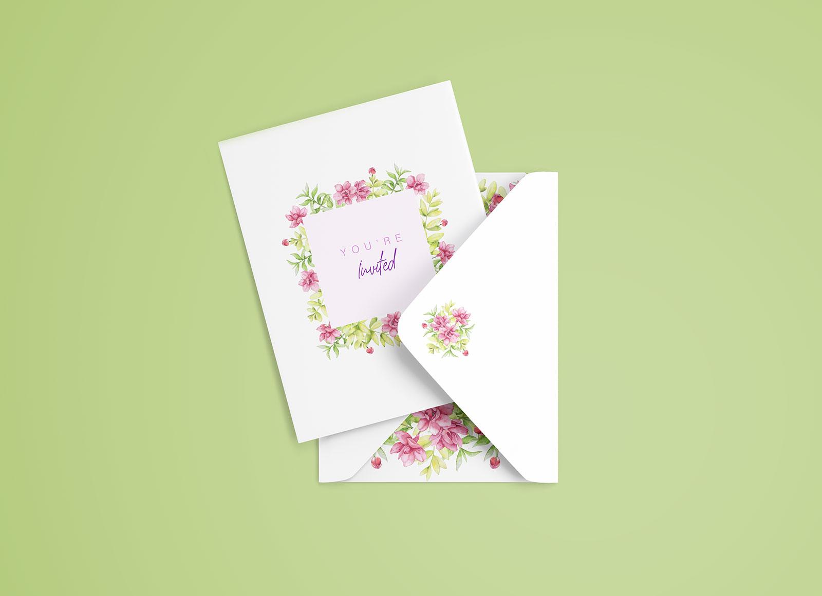 Free Simple Invitation Card Mockup PSD Good Mockups