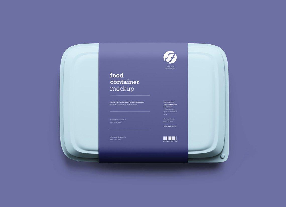 Download Free Plastic Food Box Packaging Mockup PSD - Good Mockups