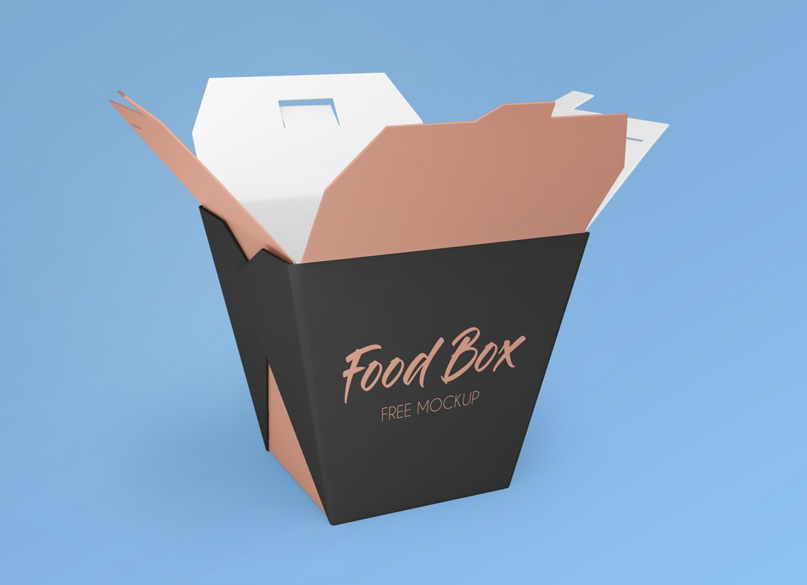 Download Free Noodle Food Box Packaging Mockup PSD Set - Good Mockups
