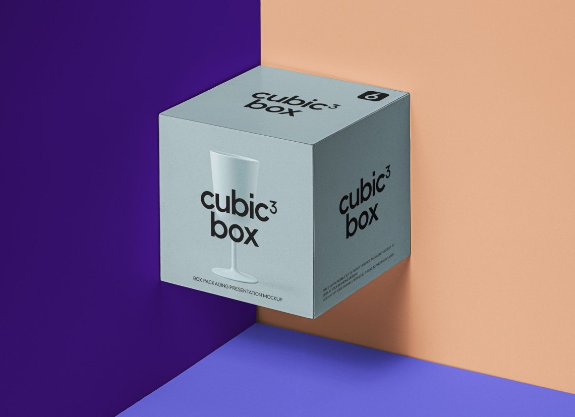 Download Free Cubic Box Packaging Presentation Mockup PSD - Good ...