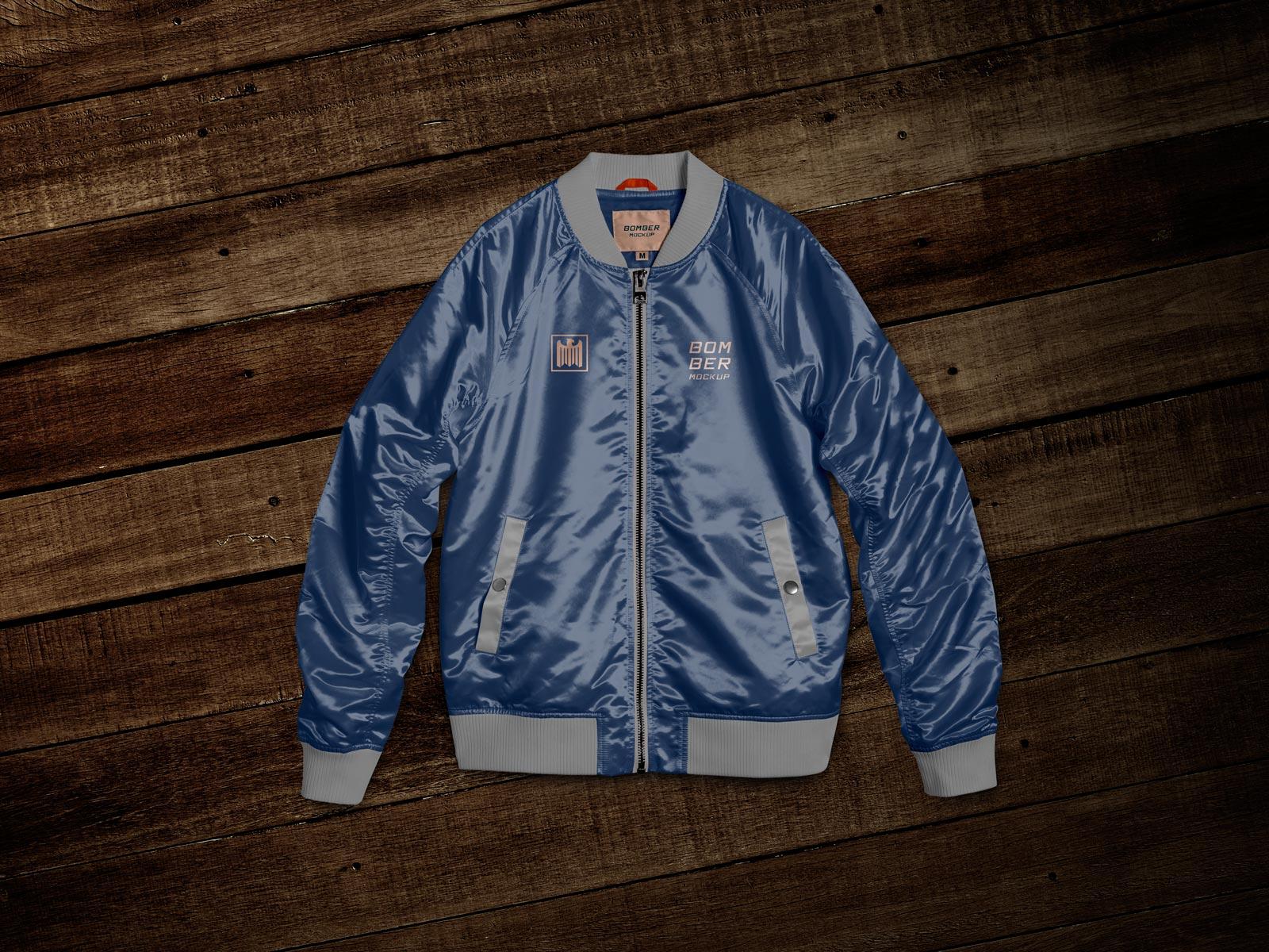 Wildan asrori 0 comment desain jaket mock up jaket parasut, mockup jaket hoodie, mockup jaket parka. Free Bomber Jacket Mockup Psd Template Good Mockups