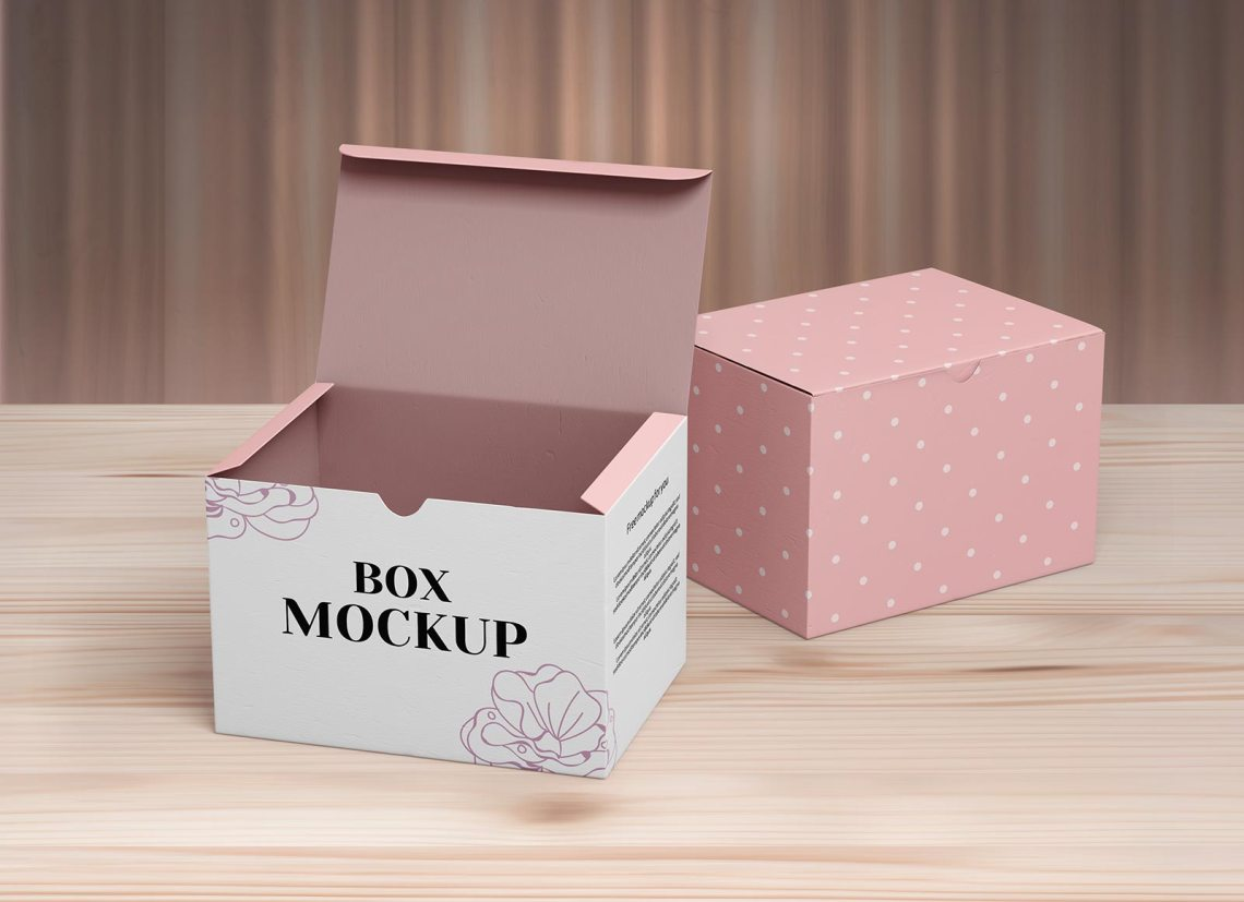 Download Free Closed & Open Box Packaging Mockup PSD Set - Good Mockups