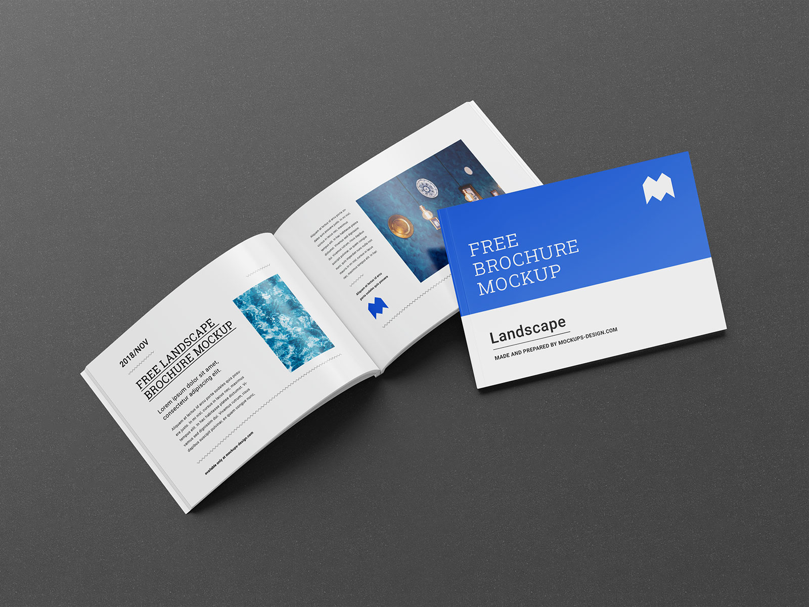 It has smart object option, so placing your brochure design into mockup template is very easy. Free Landscape Executive Perfect Binding Brochure Mockup Psd Set Good Mockups