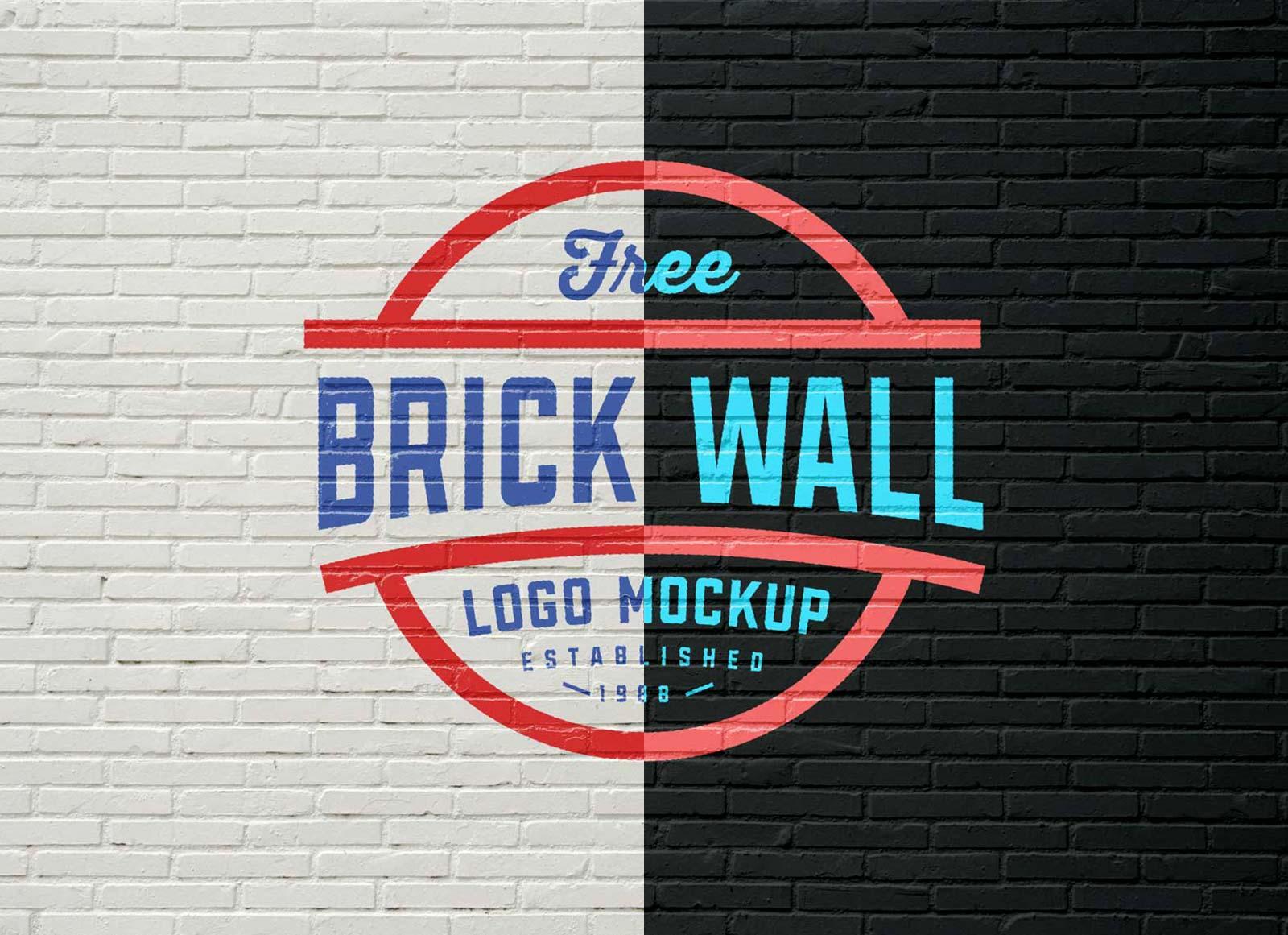 These free mockup templates make it easy to showcase creative. Free Brick Wall Logo Mockup Psd Good Mockups