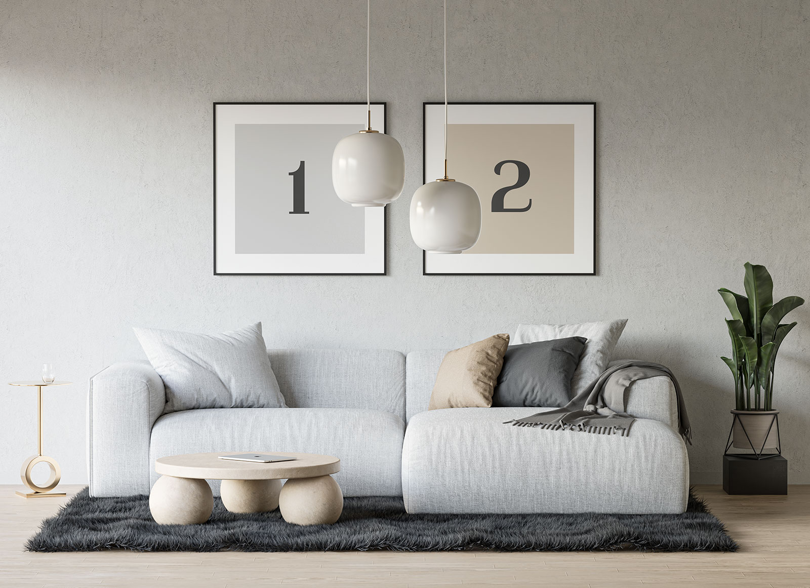 free drawing room dual square poster