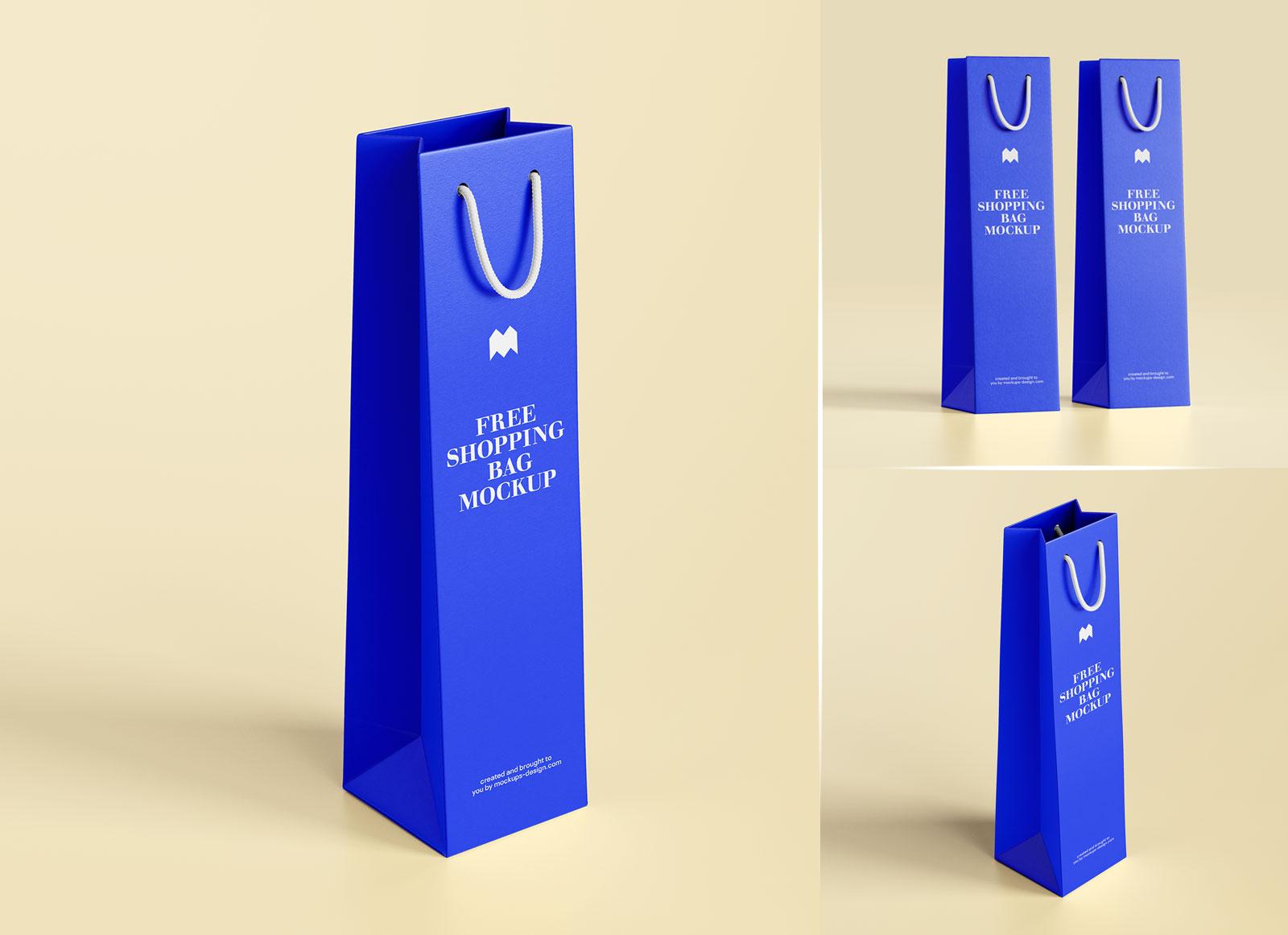 Unique and polished packaging mockups. Free Bottle Shopping Bag Mockup Psd Set Good Mockups