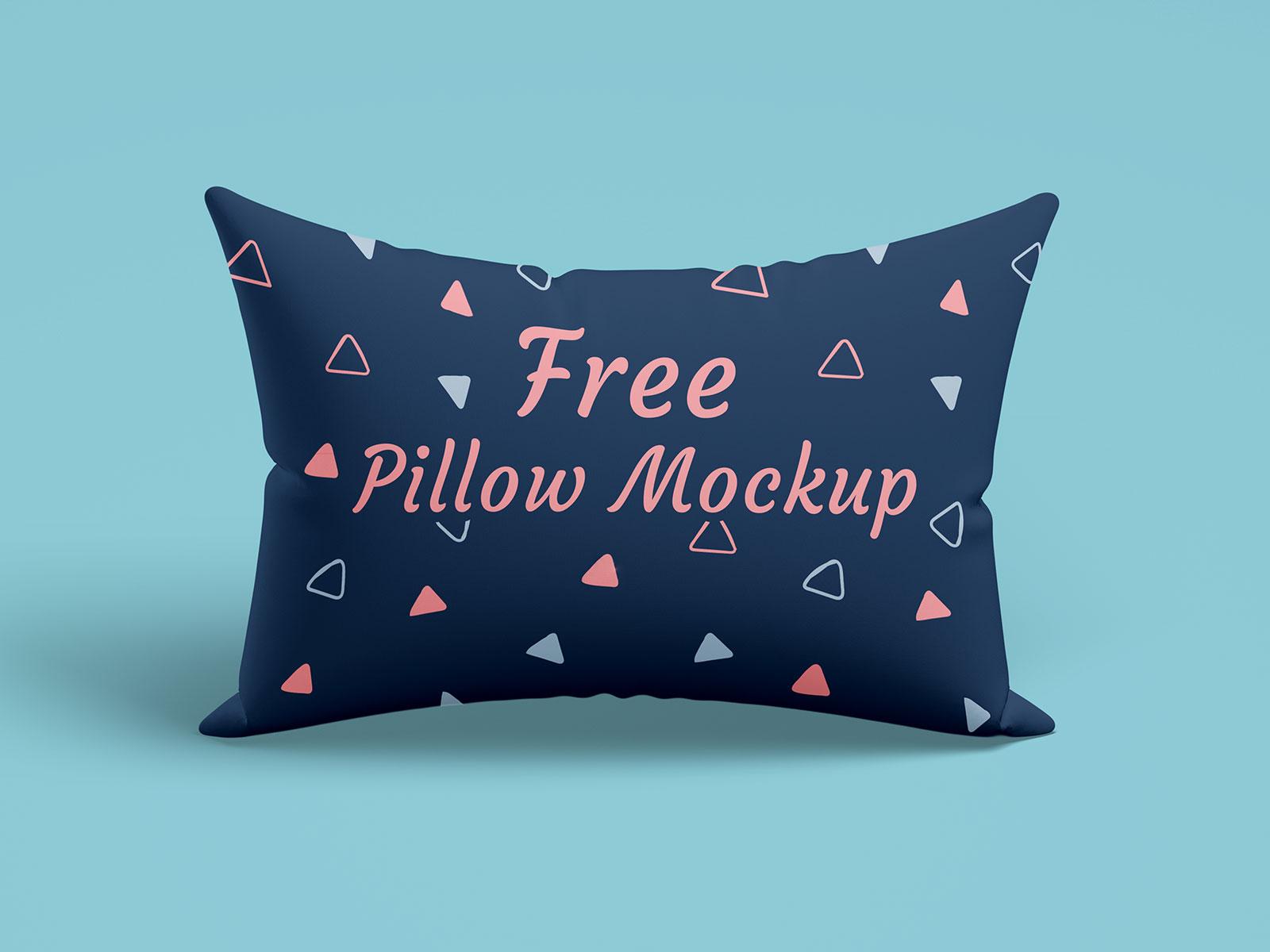 free rectangle pillow mockup psd set