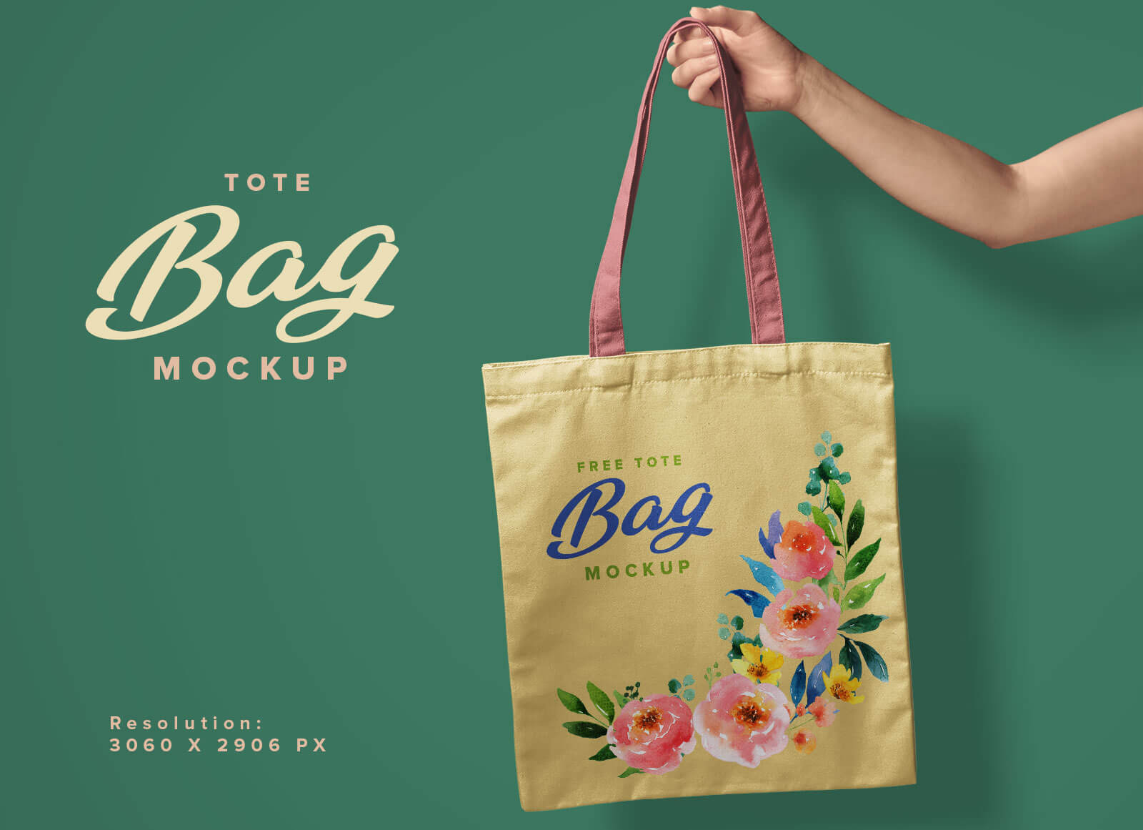 A customized branded packaging bag is easily recognizable by the company logo or brand printed on it. Free Hand Holding Tote Shopping Bag Mockup Psd Good Mockups