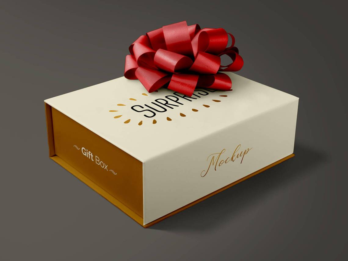 Download Free Gift Packaging Box Mockup PSD - Good Mockups