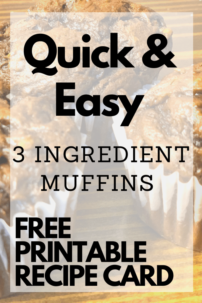 These 3 ingredient muffins are so easy to make and absolutely delicious! Muffins are a quick and easy way to have breakfast on the go and this muffin recipe is one for the books. They are chocolate banana peanut butter muffins. #food #muffins