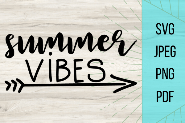 Summer is coming and with this FREE Summer Vibes SVG file for DIY projects you are going to stand out to the crowd with this adorable summer vibes file #freesvg #summervibes #cricut