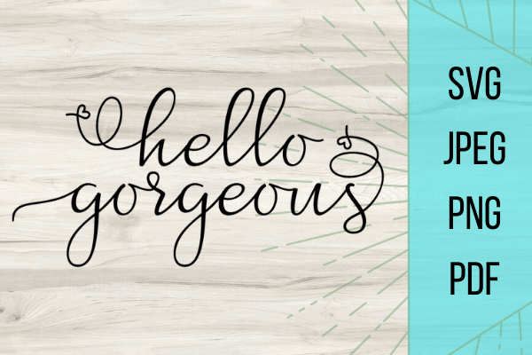 Adorable Hello Gorgeous free SVG file. This free SVG file would be perfect for any DIY project you can think up. Dont pass up this free file!