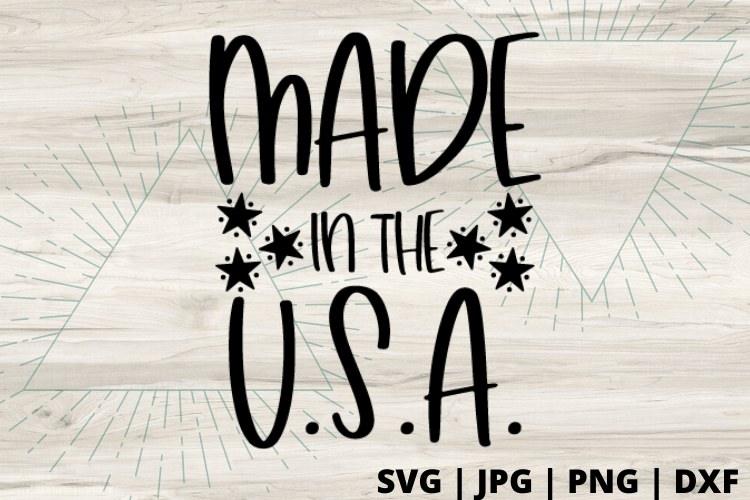Free Made in America SVG will make for the perfect DIY patriotic Tee. Make a 4th of July shirt with this simple SVG. Cricut SVG files make for super easy beginner projects. #cricut #silhouette #freesvg #svg #diy #project