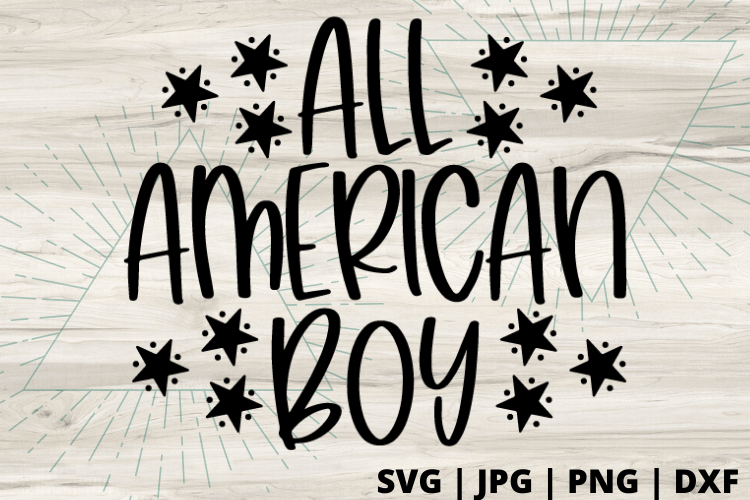 Free All American Boy SVG will make for the perfect DIY patriotic Tee. Make a 4th of July shirt with this simple SVG. Cricut SVG files make for super easy beginner projects. #cricut #silhouette #freesvg #svg #diy #project