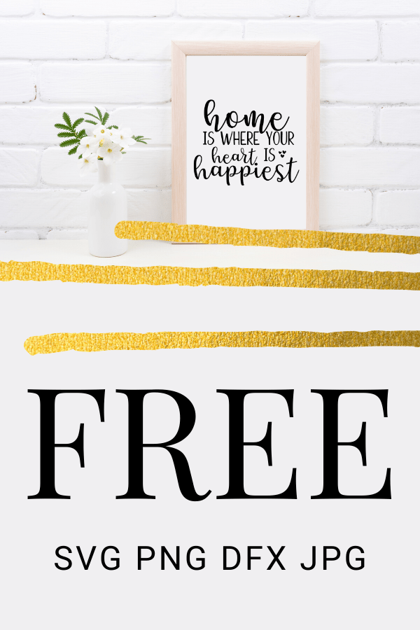 Free Home is wherever I'm with you SVG is perfect for an easy DIY home project for beginners with your Cricut. DIY home projects are so fun! #cricut #home #homesvg #freesvg