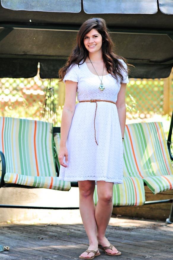 White Eyelet Dress (4)