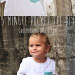 5 Minute DIY Pocket Tee Tutorial